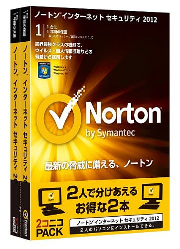 Norton Internet Security 2012 2コニコPACK[All around]